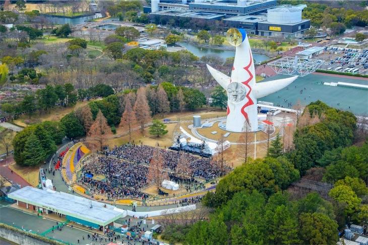 ドリカム × 太陽の塔 前代未聞のスペシャルライヴ実施!最強コラボの歴史的パフォーマンスに約7000人熱狂!