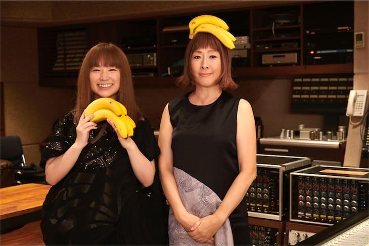矢野顕子&YUKI、タワーレコード「NO MUSIC, NO LIFE.」ポスターに二人揃ってバナナを持って登場!