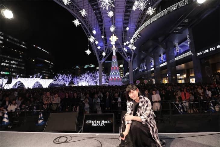 絢香、「光の街・博多」クリスマスツリー点灯式出演!映画『人魚の眠る家』主題歌「あいことば」を初歌唱!