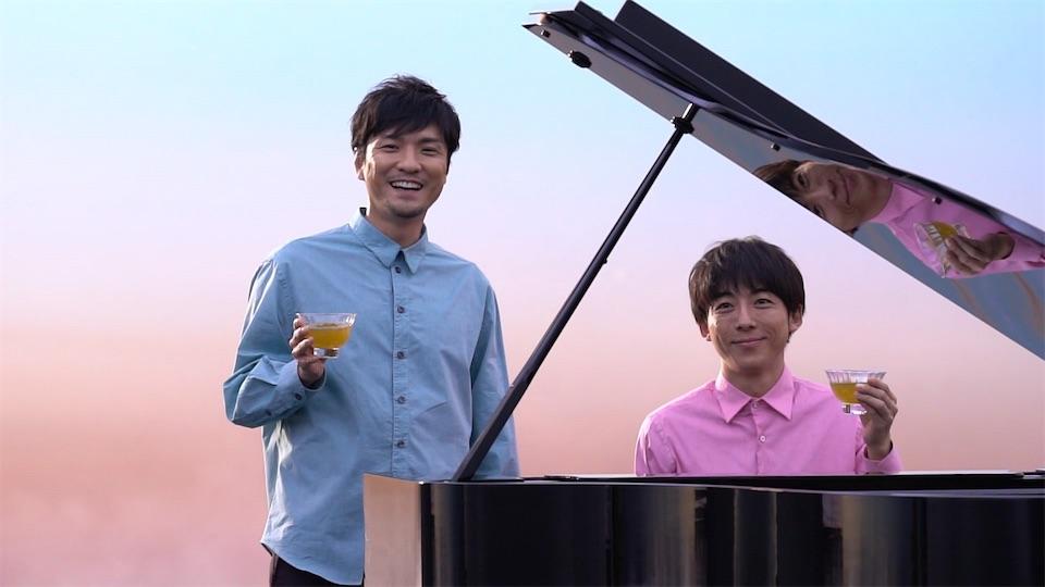 高橋一生・森山直太朗出演「生茶」新CM『ピアノ篇』公開!