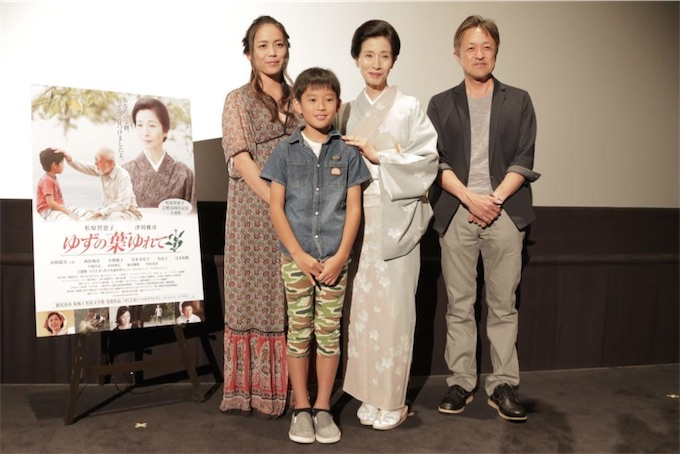 元ちとせ、主演の松原智恵子と共に映画『ゆずの葉ゆれて』舞台挨拶に登場!主題歌「君の名前を呼ぶ」配信スタート!