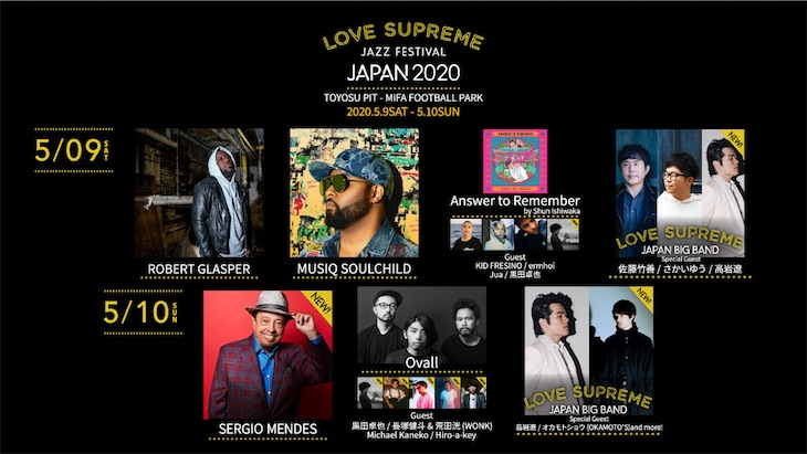 『LOVE SUPREME JAZZ FESTIVAL JAPAN 2020』公演中止のお知らせ
