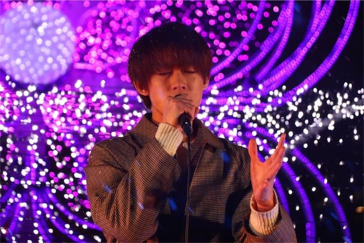 Qyoto ボーカル中園勇樹「さっぽろホワイトイルミネーション」点灯式で「真冬のダイアリー」を披露!