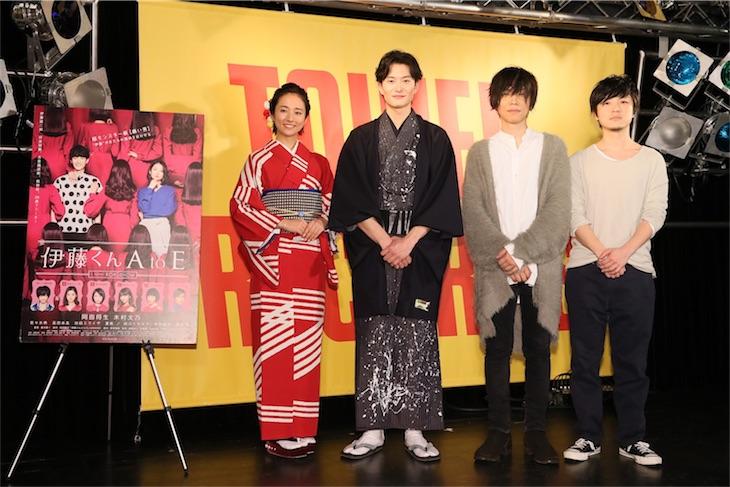 androp ボーカル内澤崇仁の主題歌「Joker」発売記念イベントに岡田将生、木村文乃がサプライズ登壇!
