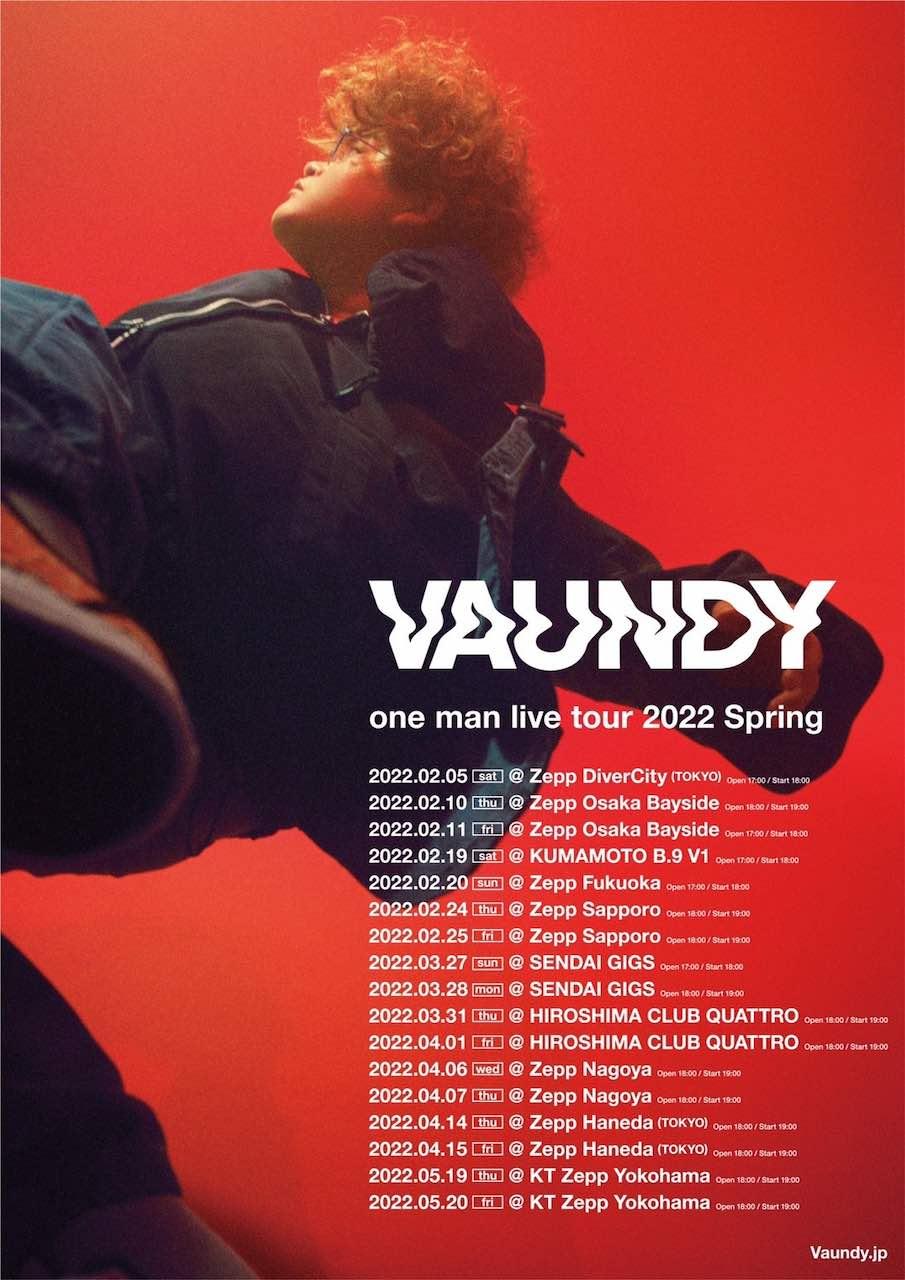 Vaundy、2022年春の全国ツアーを発表!