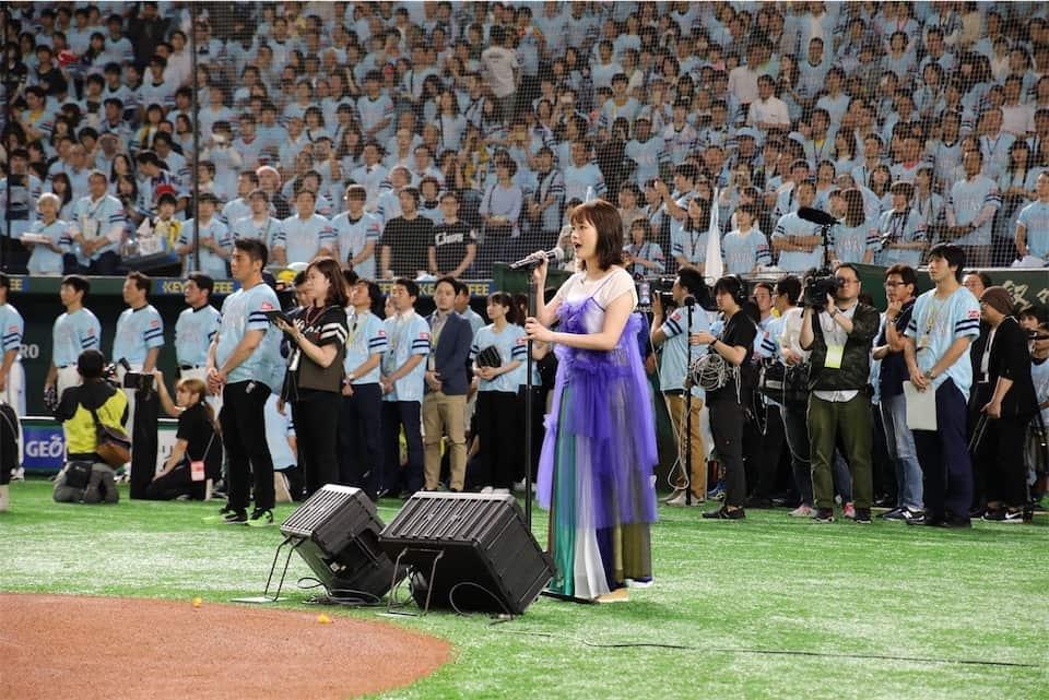 大原櫻子、約4万7千人の前で初の国歌独唱!鷹の祭典2019 in東京ドーム