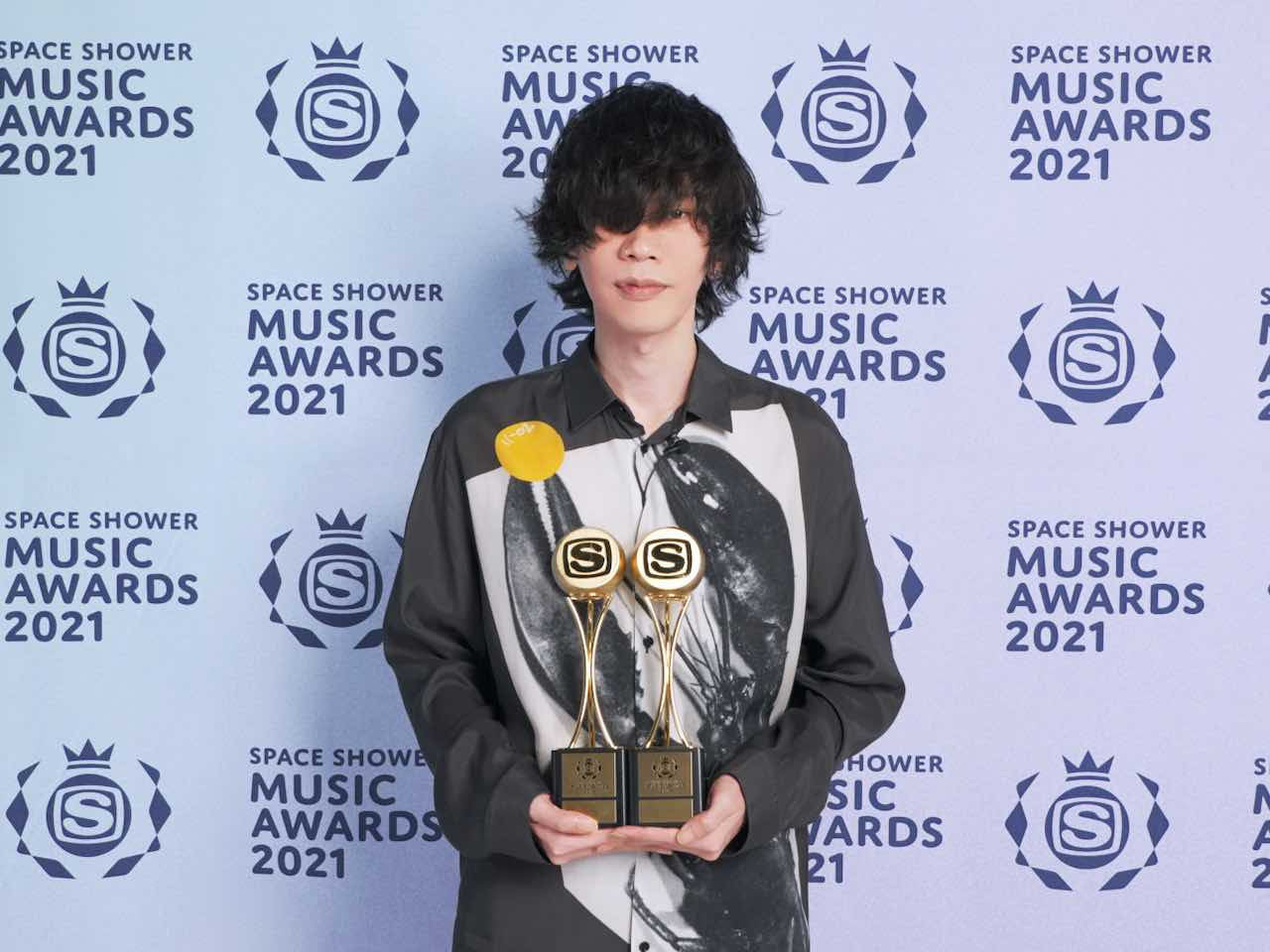 米津玄師、「SPACE SHOWER MUSIC AWARDS 2021」2部門受賞!
